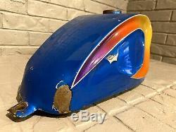 Vintage Survivor Gas Tank Harley Chopper Panhead Knucklehead Custom Paint Custom