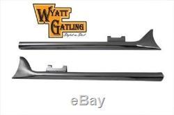 Vtwin Wyatt Gatling 33 Straight Fishtail Mufflers for 95-16 harley touring FLHT
